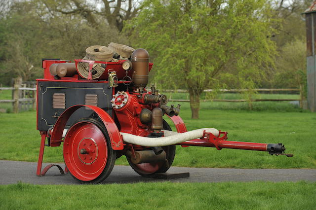 c1913 Merryweather  Hatfield Fire Engine Trailer Pump