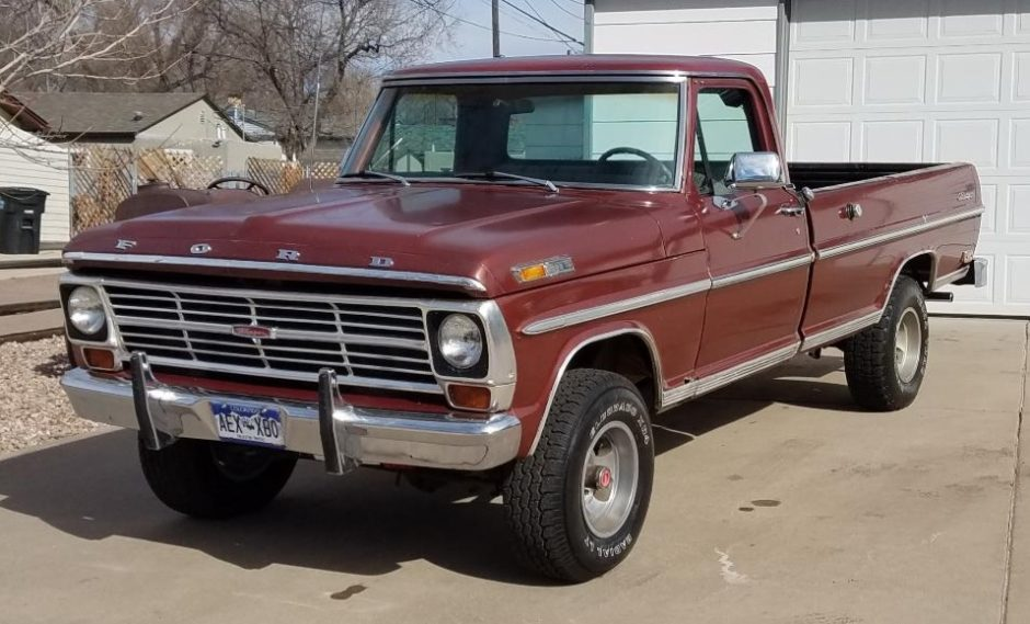 No Reserve: 1969 Ford F-100 4×4 4-Speed